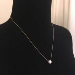 Jewelry - Gold and Pearl Necklace - Simple Dainty Jewelry